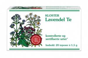 Bilde av Kloster Lavendel Te 20 poser
