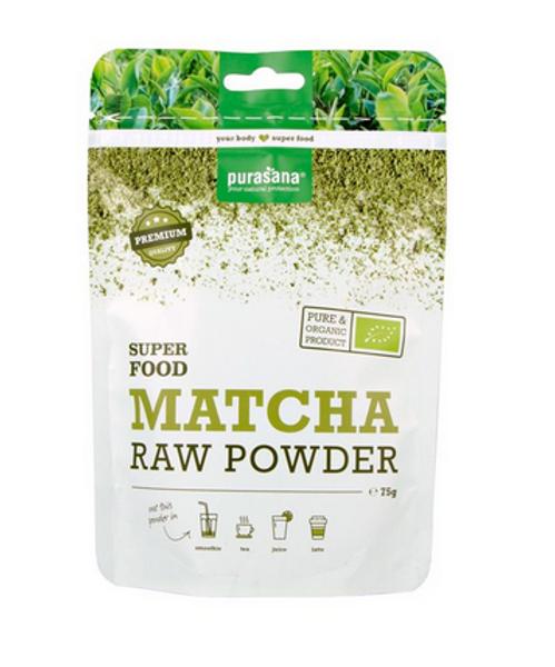 Purasana Matcha pulver rawfood 75 g