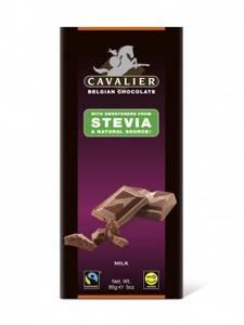 Bilde av Cavalier Stevia Melkesjokolade plate 85 g