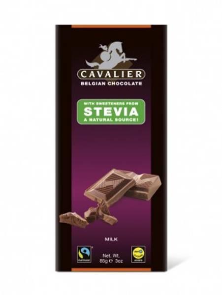 Cavalier Stevia Melkesjokolade plate 85 g