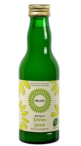 Helios Sitronjuice usøtet 200 ml