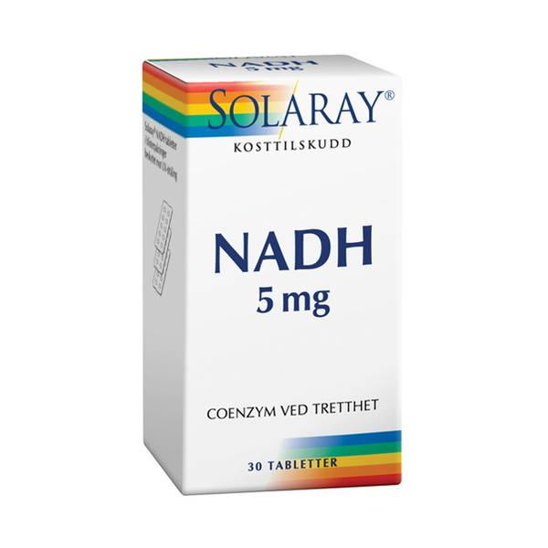 Solaray NADH 5 mg 30 tabletter